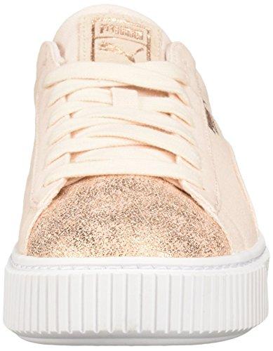 Pictures of PUMA Women's Basket Platform Canvas Wn Sneaker 12 M US Little Kid 5
