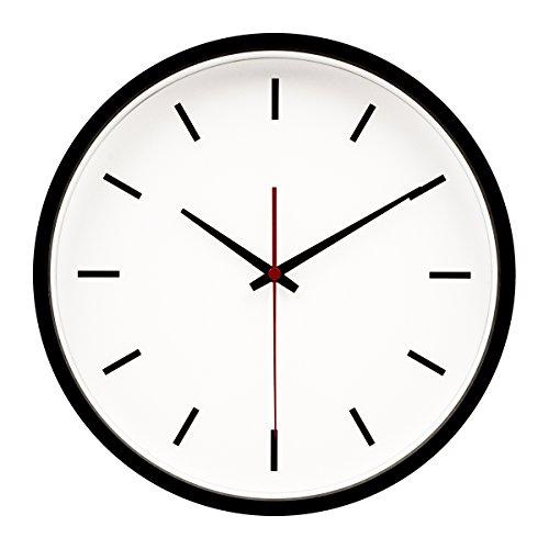 Hippih Silent Wall Clock Wood Non Ticking Digital Quiet Swee