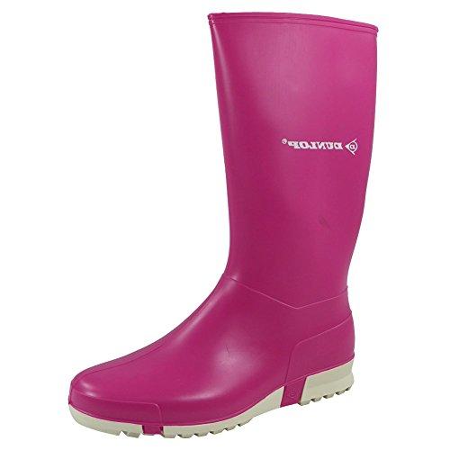 Señoras Wide pantorrilla Botas de invierno nieve Botas de agua para mujer lluvia botas tamaño 3–8 DUNLOP PINK