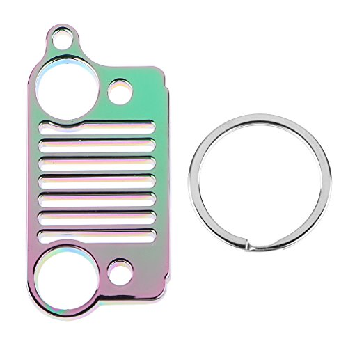 Stainless Steel Jeep Grill KeyRing