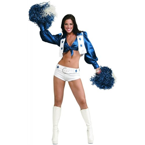 Cowboy Costume For Women Pants (Secret Wishes Women's Dallas Cowboy Cheerleader Costume, White, Medium)