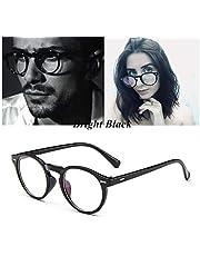 Retro Literary Round Design EP Optical Glasses Frame Anti-Blue Light Anti-Radiation - Black