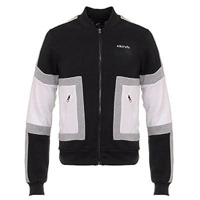 Nice AIRAVATA Men's Spring Fleece Coats Zip Up Casual Hooded Sweatshirts