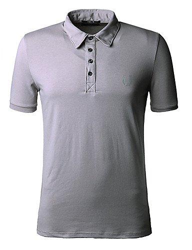 HBJ algodón Fasion polo camisa décontractée Hombres, color marrón ...