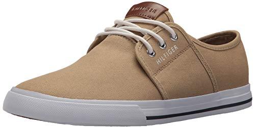 (Tommy Hilfiger Men's Pala Sneaker, Khaki, 10 Medium)