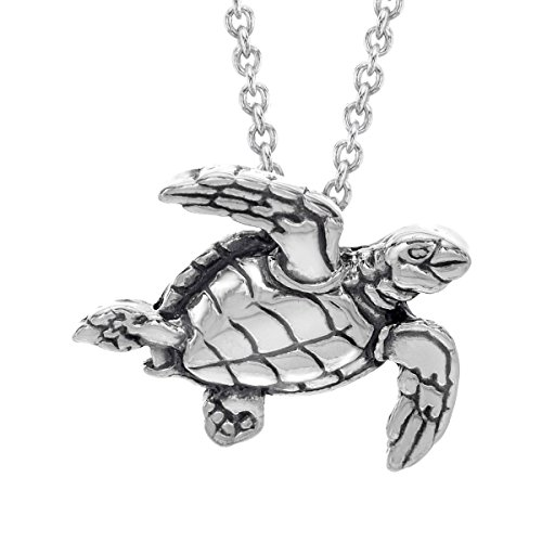 Kabana Small Sea Turtle Pendant Necklace in Sterling for sale  Delivered anywhere in USA