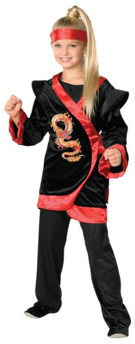 [Child's Red Dragon Ninja Costume - Large] (Halloween Costumes For Asian Women)