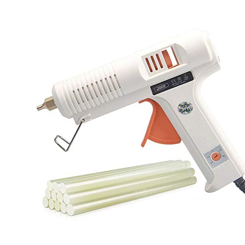 - Hot glue gun professional adjustable temperature hot glue gun 150 w 12 glue stick - interchangeable nozzles suitable for home repair computer electronic maintenance and crafts DIY project
