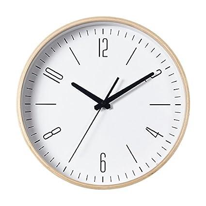 Y Hui Wall Clock Clock Living Room Bedroom Clocks Home Wooden Super Silent  Round