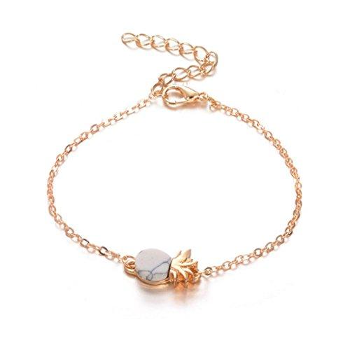 Celendi_ Jewelry Vintage Bracelet Cute Pineapple Fruit Bracelet Charm Wrist Chain for Girls ()