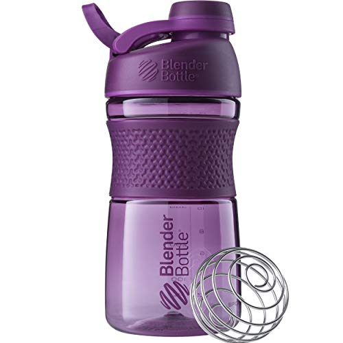 BlenderBottle SportMixer Twist Cap Tritan Grip Shaker Bottle, 20-Ounce, Plum (Thrive Blender Bottle)