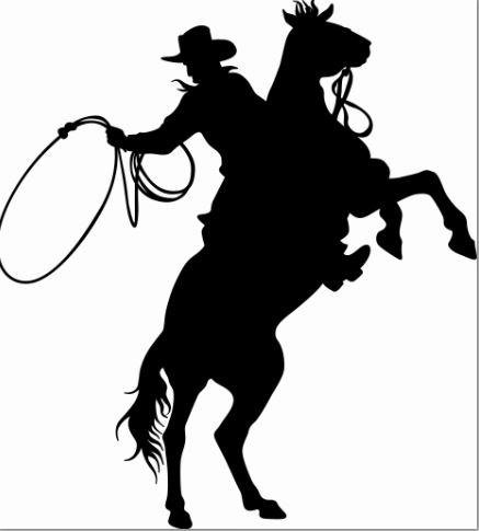 Vinyl Wall Decal Sticker : Cowboy On A Horse Rodeo Fun Bedroom Bathroom Living Room Picture Art Peel & Stick Mural Size: 10 Inches X 15 Inches - 22 Colors Available