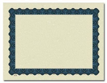 Metallic Blue Parchment Certificates, Health Care Stuffs