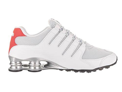 Nike Shox Nz Se Mens Scarpe Da Corsa 833579 Bianco / Argento Metallizzato