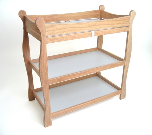 Badger Basket Natural Sleigh Style Baby Changing Table