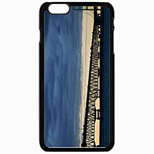 Unique Design Fashion Protective Back Cover For iPhone 6 Plus Case Slim (5.5 inch) Bridge Machines Strait Black
