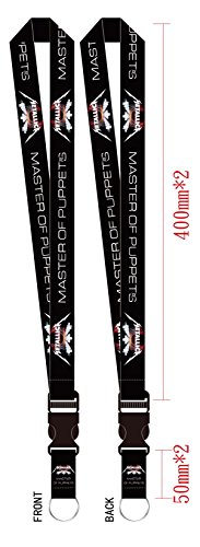 1 Pc Metallica Tribute Master of Puppets neck lanyard - 20mm x 46cm - DGK lanyard keychain holder and Badge