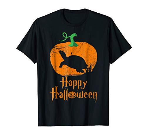 - PAINTED TURTLE in Pumpkin Happy Halloween T-shirt