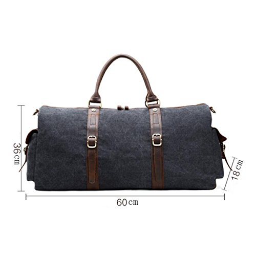 Shoulder Fashion Bag darkgray Travel Armygreen Canvas Free Men Handbag qtOzw
