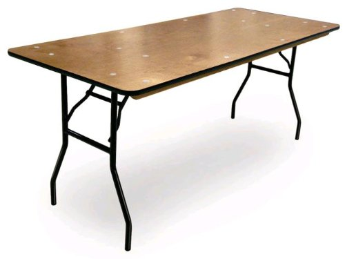 McCourt 70905 Plywood Folding Table, Polycoat Finish with Vinyl Edge, 3' x 24