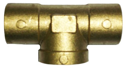Plumber's Choice 92360 Cast Brass Sweat Fitting, Tee, C x C x FIP, 1/2-Inch (5-Pack)