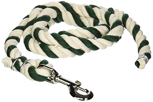 - BEILER'S 700-Green/White Cotton Lead Rope with Swivel Snap, 6', Green/White