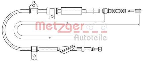 Feststellbremse Metzger 10.5238 COFLE Seilzug