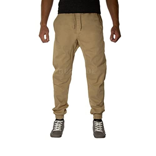 Mens Twill Drop Crotch Jogger Pants Premium Pure Harem Baggy
