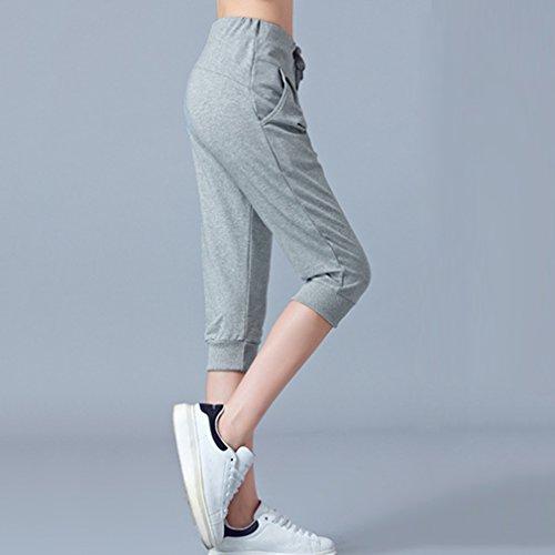 M Casual Di Sciolti L 6XL Pantaloni Jogging Pantaloncin 2XL Fitness Pantaloni Donne Dimensioni Danza Yoga XL da Sportivi Pantaloni Grigio Confortevole Spiaggia Coulisse 4XL Grandi 3XL per 5XL Hat5xqw