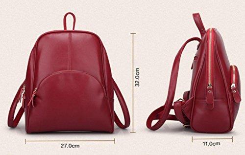 de kaki à de FEN de noir rose Khaki sac cuir la loisirs bleu bandoulière à rouge dos forfait Khaki à coréenne sauvage femme Sacs voyage en tendance sac main rqTwZYFq