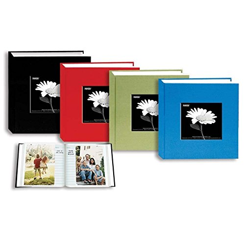 Pioneer Cloth Frame Album, Standard Cloth Covers, Holds 100 4x6 - Assorted Colors