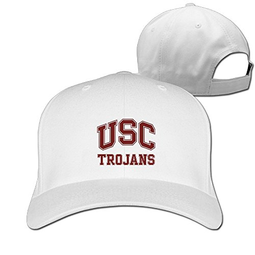 Yesher Cool USC Trojans Logo Baseball Cap - Adjustable Hat - White