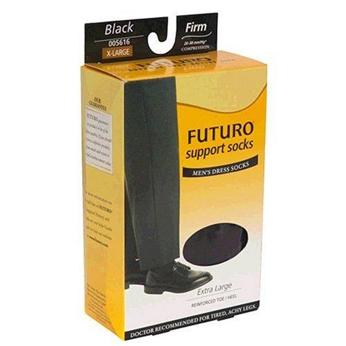 Futuro Restoring Dress Socks, XLarge, Black