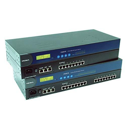 MOXA CN2610-16 Serial/Ethernet Server, 16xRS-232 230.4Kbps Terminal Server for 2x10/100Mb Ethernet, 16-Port Async Server, 10/100 Ethernet, RS-232 230.4 Kbps, 2LAN, 15 KV ESD Protection,110V