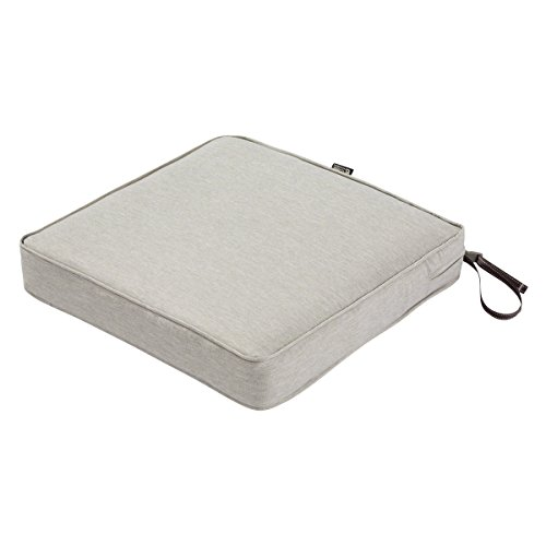 Classic Accessories Montlake Seat Cushion Foam & Slip Cover, Heather Grey, 21x21x3 Thick by Classic Accessories