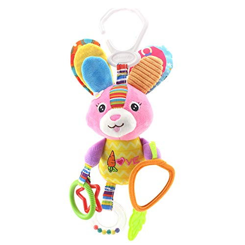 Mayyou Baby Toys, Pram Toys, Colorful Infant Stroller Toys Washable Squeaker Car Toys, Kids Hanging Toy for Crib with…