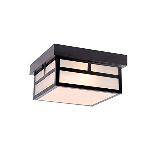 Acclaim 4710BK Artisan Collection 2-Light Ceiling Mount Outdoor Light Fixture, Matte Black