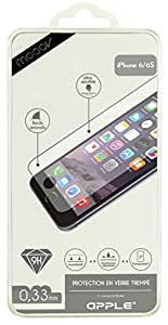 Omenex 610352-Protector de pantalla para iPhone 6 Vidrio templado, 6S, transparente