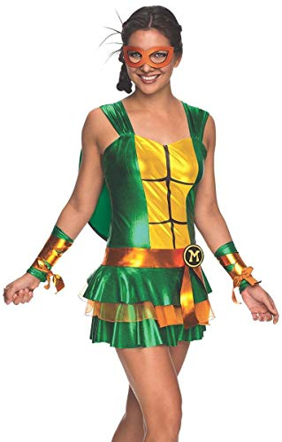 Secret Wishes Women's Teenage Mutant Ninja Turtles Michelangelo Costume Dress, Multi, Large -