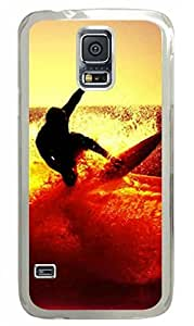 Samsung Galaxy S5 PC Hard Shell Case Surfer Transparent Skin by Sallylotus by mcsharks