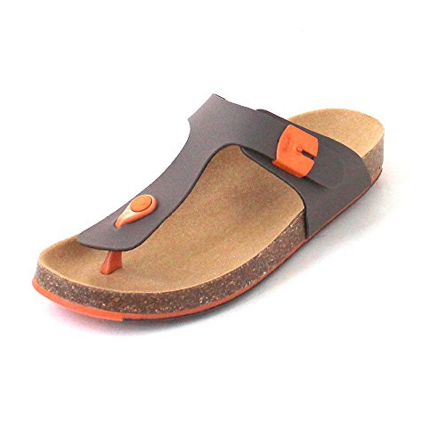 Scholl - Sandalias de Piel para mujer marrón Braun (Brown/Orange) Braun (Brown/Orange)