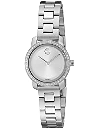 Movado Swiss Quartz Stainless Steel Automatic Watch, Color:Silver-Toned (Model: 3600214)