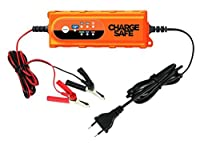 Portable Car Battery Charger- 12v Charger For Car and 6v For Motorcycle – Best Automatic Auto Battery Trickle Smart Charger For Lead Acid Batteries- Battery Charge Maintainer With Clips and O-rings