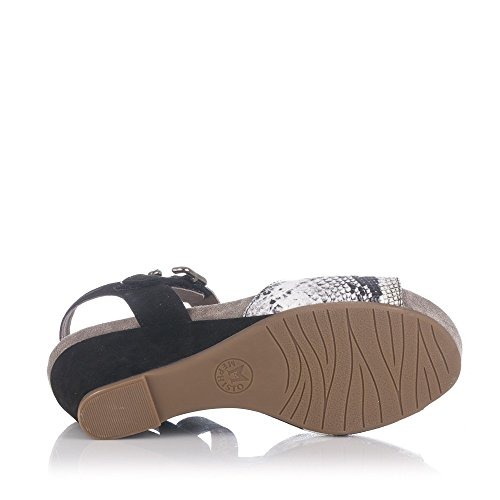 Mephisto Womens Beauty Leather Sandals NEGRO