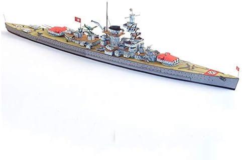 ELVVT 1:400ドイツの戦艦提督シアーハイモデル手作りの高難易度の軍事ファン子供大人用DIYペーパーアート模型玩具誕生日の