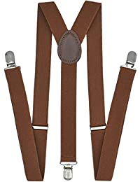 Suspenders for Men - Adjustable Elastic Y Back Style Suspender - Strong Clips