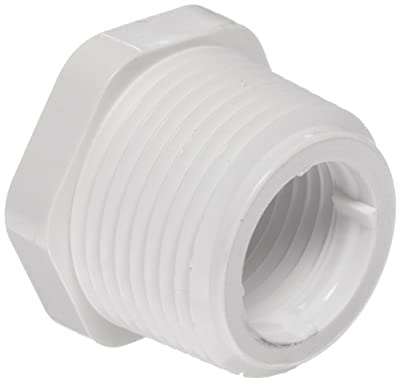 "Spears 439 Series PVC Pipe Fitting, Bushing, Schedule 40, 3/4"" NPT Male x 1/2"" NPT Female"