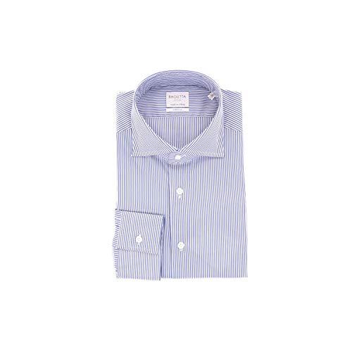 Bagutta Men's B386v07777whiteblue Blue Cotton Shirt