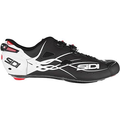 保持するベアリング日付(シディ) Sidi Shot Vent Carbon Cycling Shoe メンズ ロードバイクシューズWhite/Matte Black [並行輸入品]