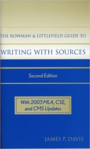 Book The Rowman & Littlefield Guide to Writing with Sources